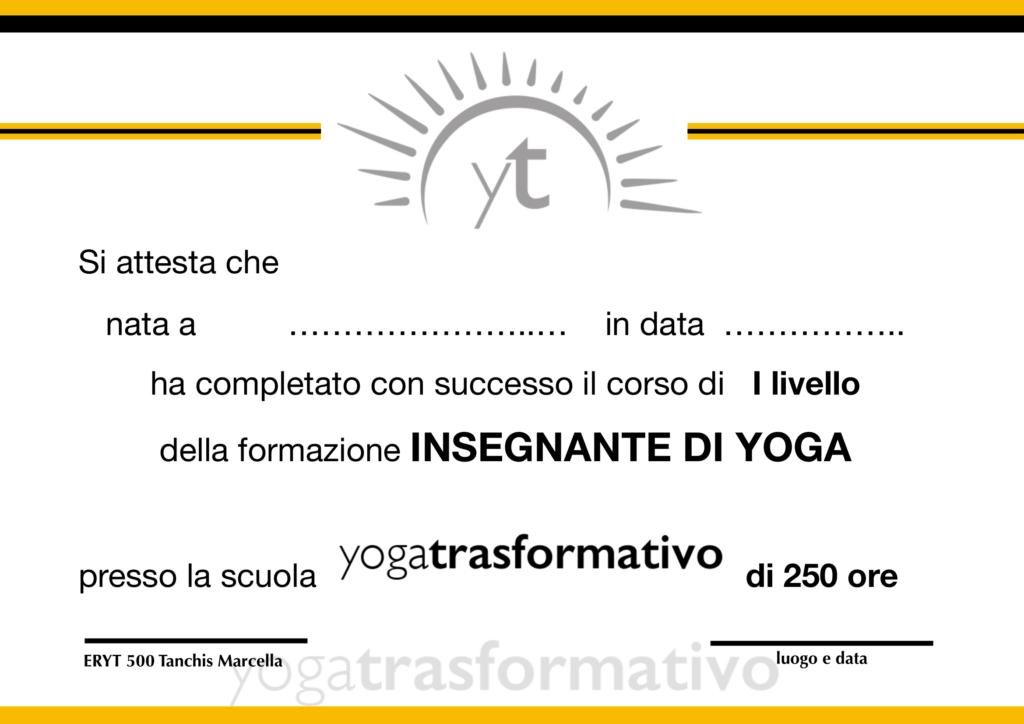 diploma insegnante Yoga riconosciuto